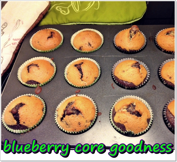 blueberry core muffins